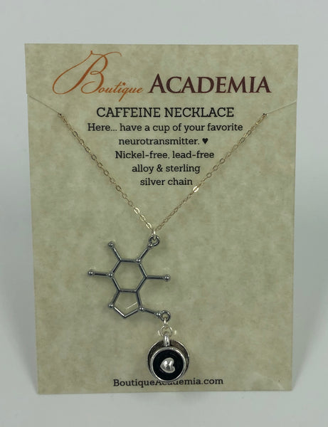 Necklace- Caffeine Molecule