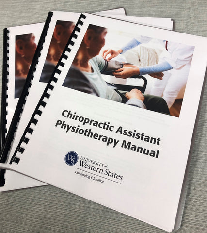 Chiropractic Assistant Physiotherapy Manual