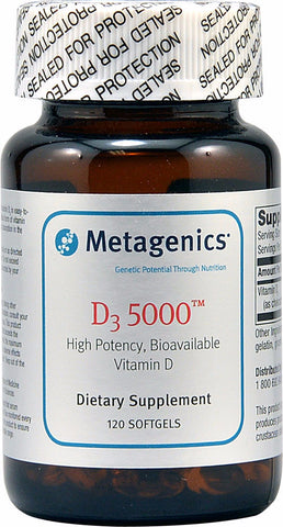Metagenics D3 5000 - 120 Softgels