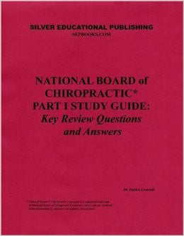 National Board of Chiropractic Part 1 Study Guide