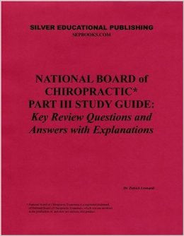National Board of Chiropractic Part 3 Study Guide