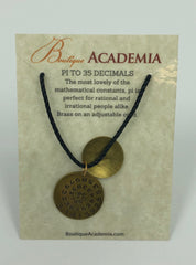 Necklace- Pi to 35 Decimals