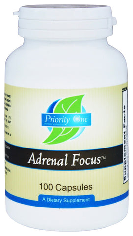 Priority One Adrenal Focus - 100 Capsules