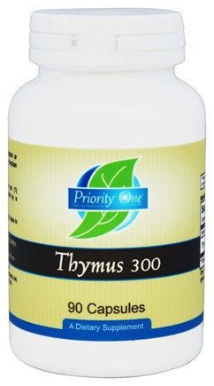 Priority One Thymus 300 - 90 Capsules