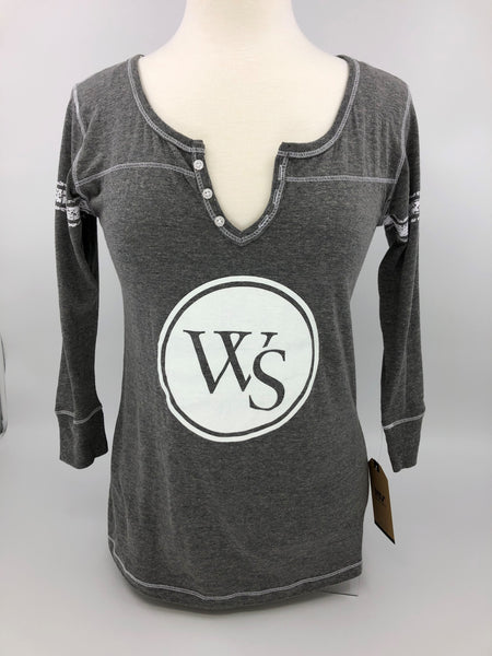 UWS Ladies Fit Henley 3/4 sleeve