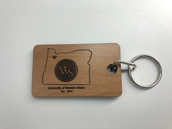 UWS Keychain Oregon Outline