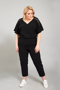 plus size jumpsuit black