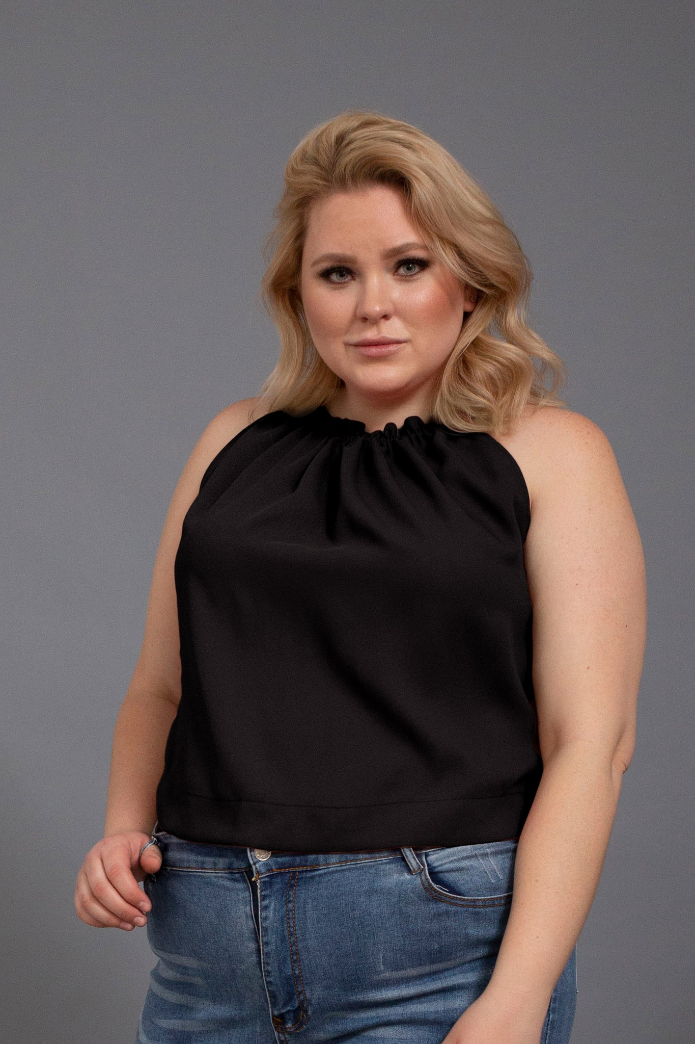 Black SOPHIE TOP
