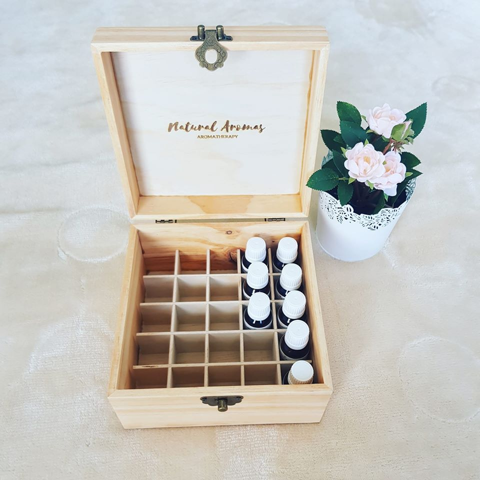 Essential Oil Wooden Storage Box (25 slot)