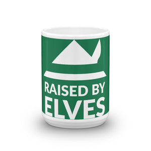Raised by Elves Holiday Mug