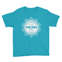 Load image into Gallery viewer, TAMJAMS Sunburst Youth Short Sleeve T-Shirt - 11 COLORS AVAILABLE