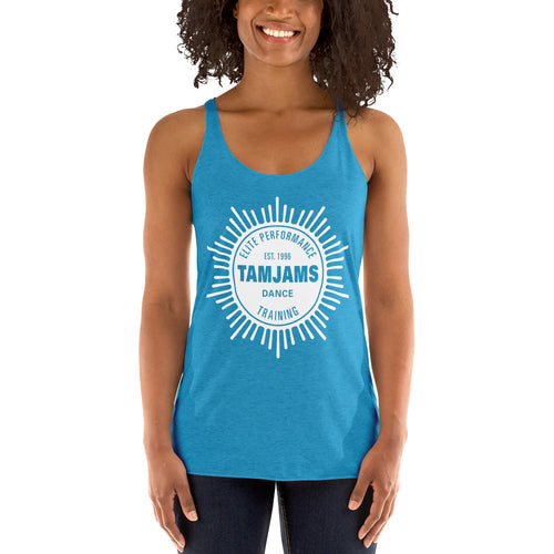 TAMJAMS Sunburst Women's Racerback Tank - 11 COLORS AVAILABLE