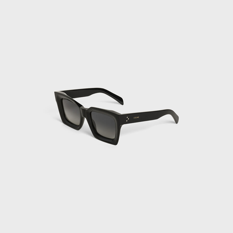 Square sunglasses in acetate with polarized lenses for women
