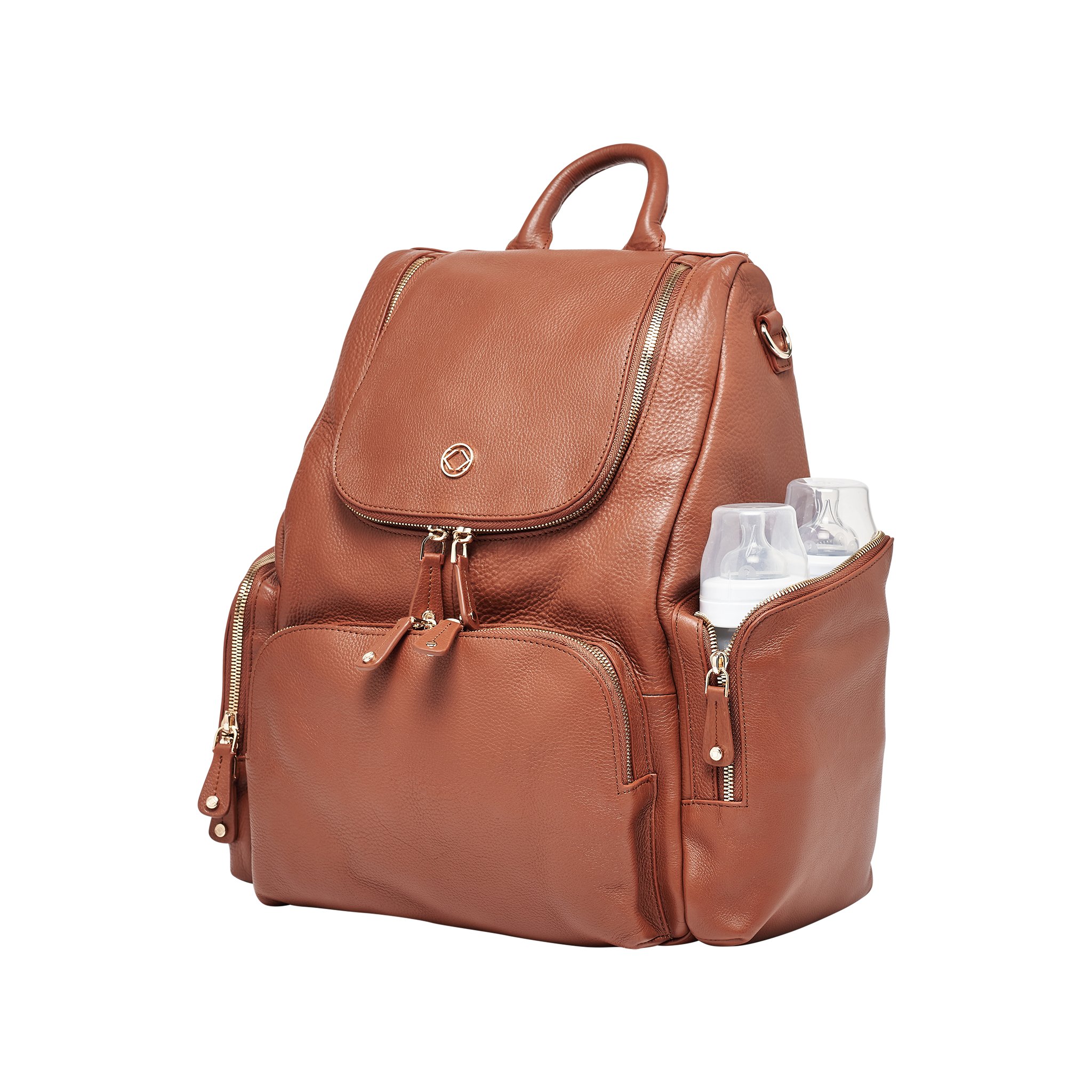 The stunning colour and pockets-a-plenty make our tan baby changing backpack ideal for mums wanting to be functional and fashionable.
