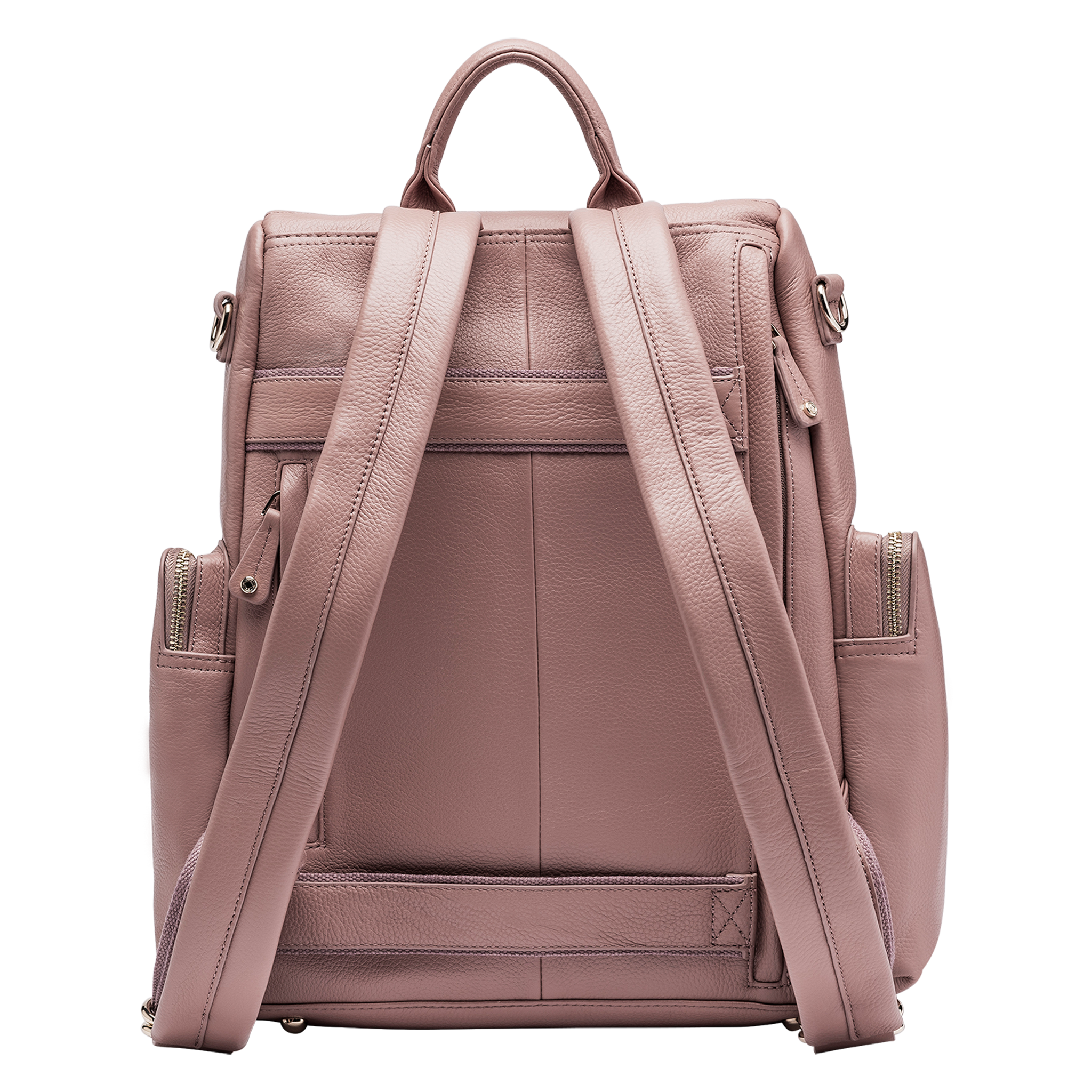 Amber Antique Rose Leather Backpack