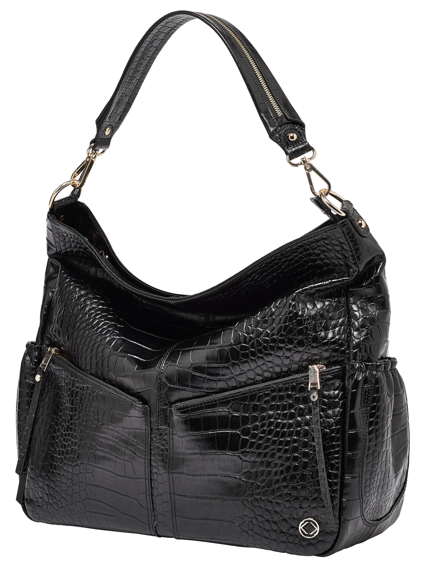 Add some extra style to your day with our black croc handbag from KeriKit's Lennox range. KeriKit has prioritised style, luxury, and practicality with its choice of kit bags, order today.