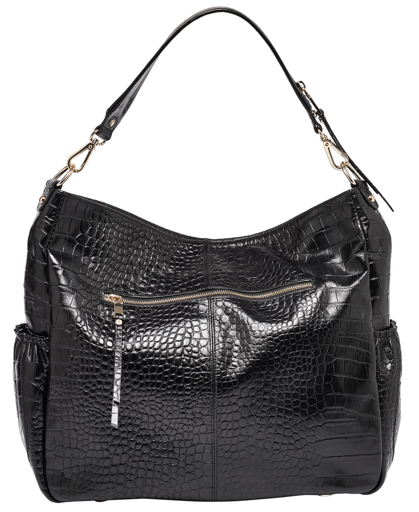 Lennox Black Croc Crossover Leather Handbag - Preorder Now For Mid-September