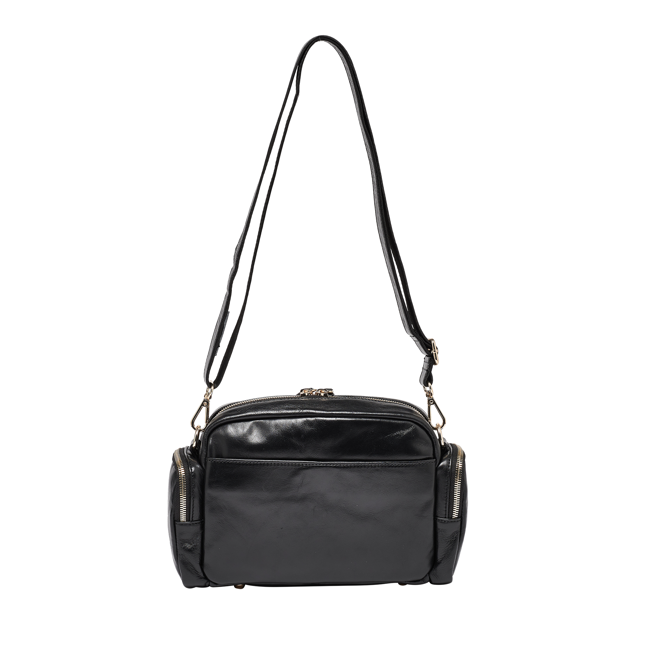 Greta Quilted Black Leather Cross Body Bag - Preorder For Mid September Delivery