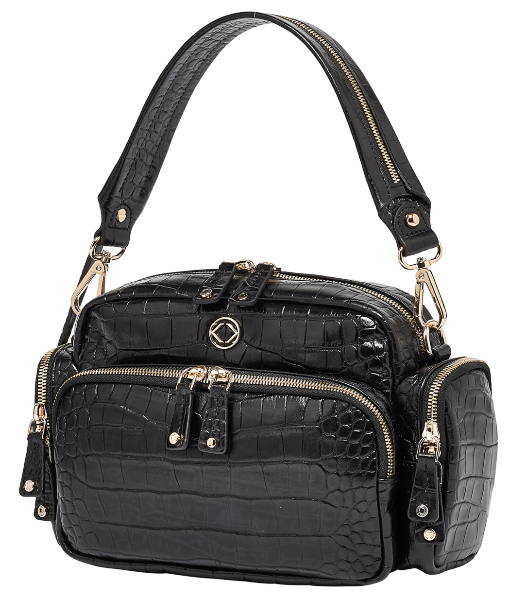Greta Limited Edition Black Croc Leather Cross Body Bag - Pre-orders Open Soon
