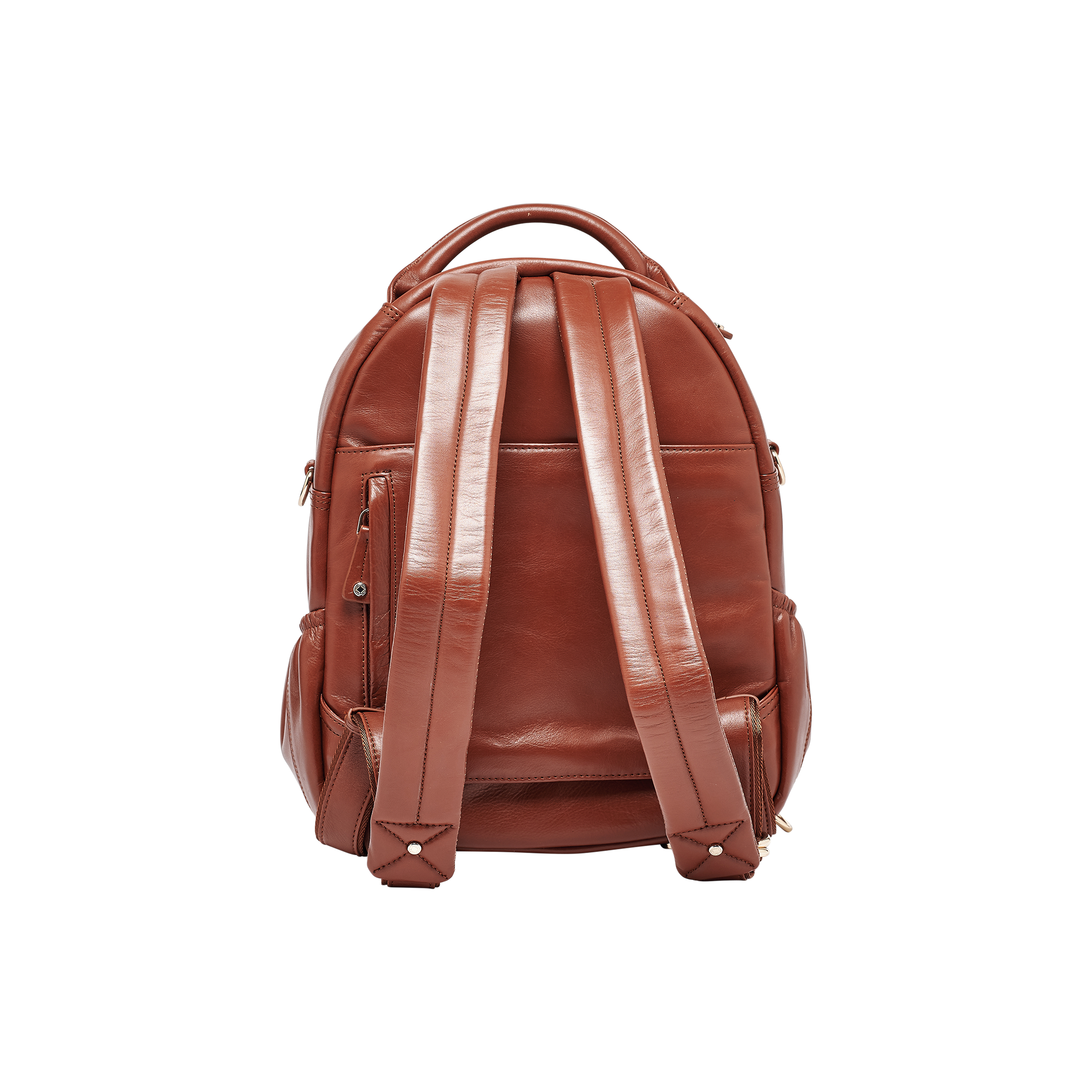 Joy Midi Tan Quilted Leather Backpack - FINAL SALE