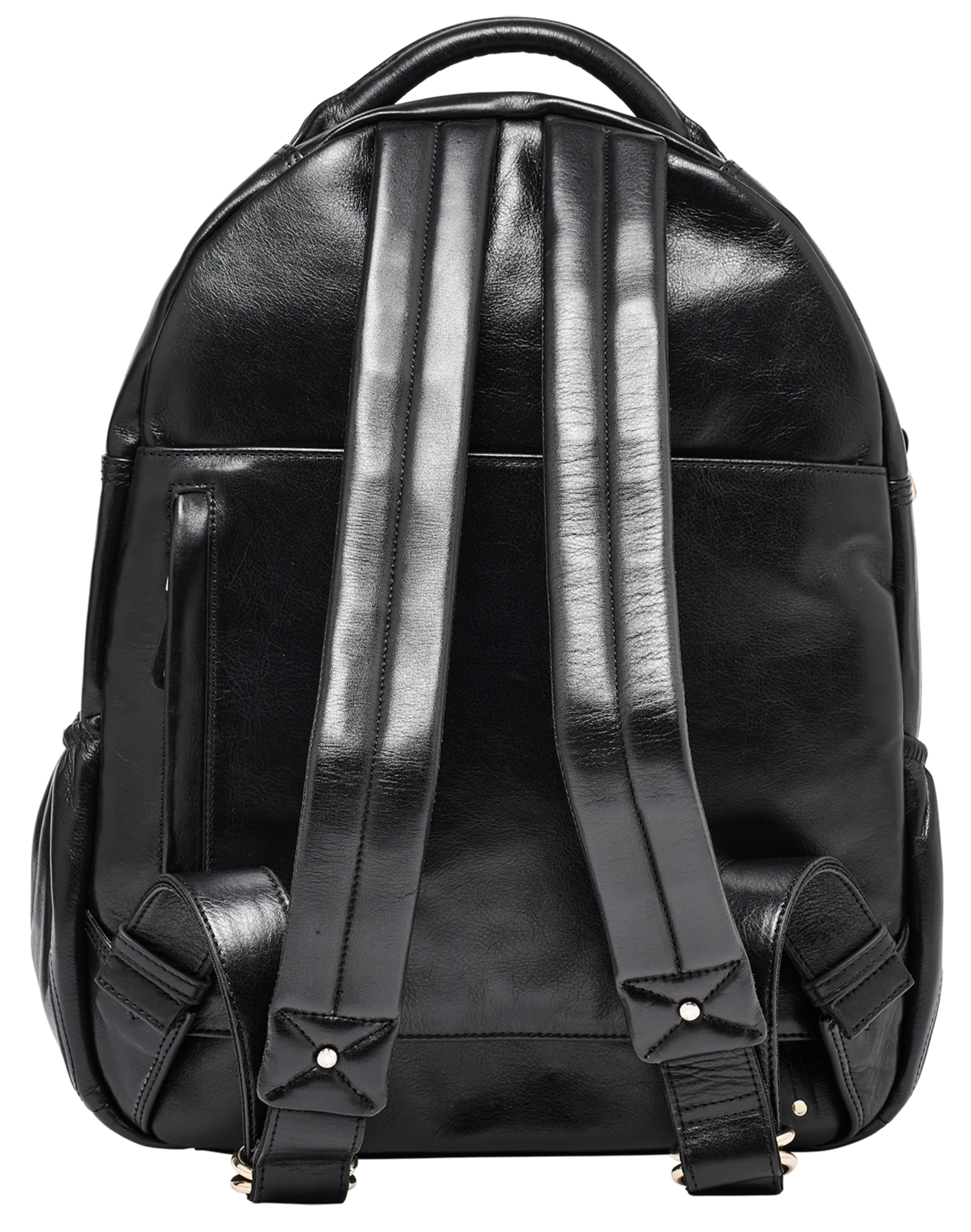 Joy XL Studded Black Leather Backpack