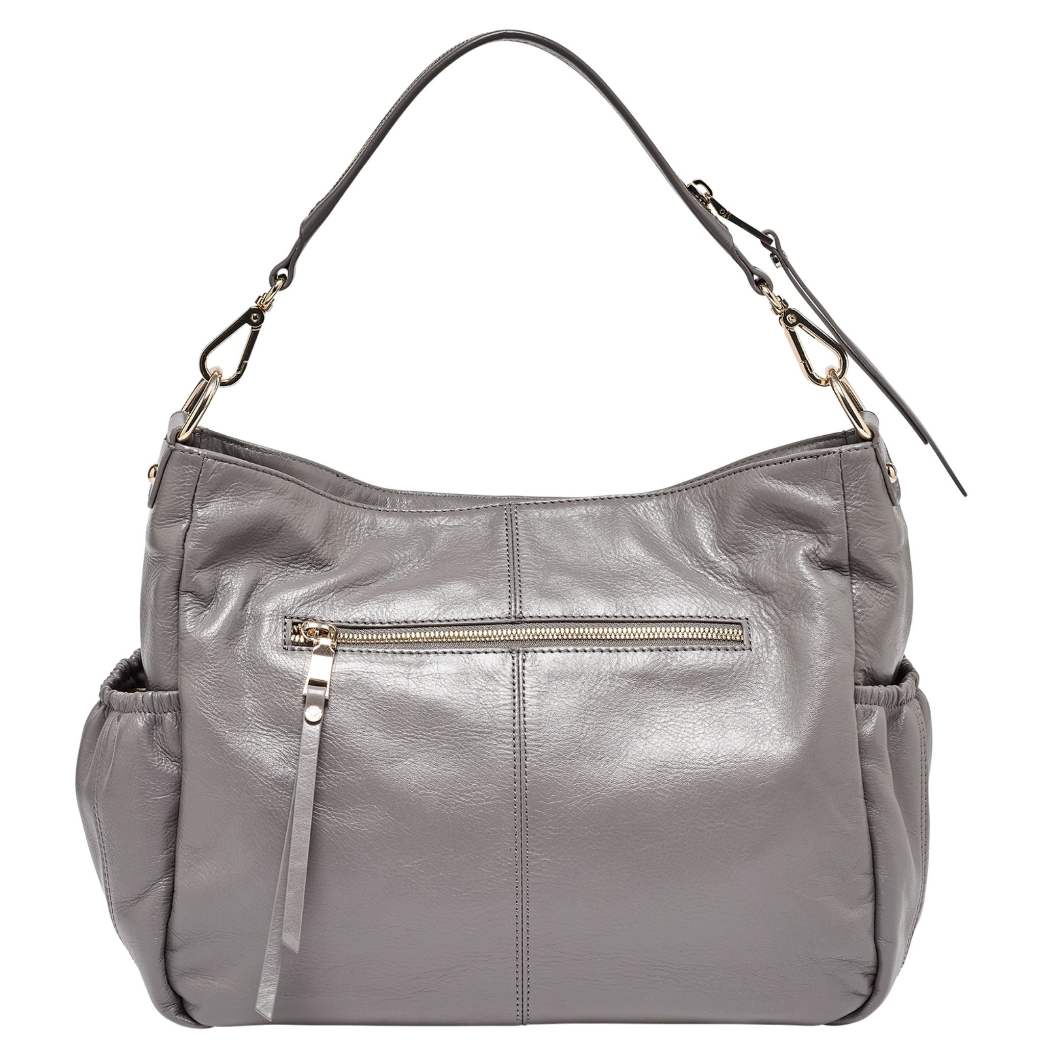 Luxury designer Lennox Midi Dark Grey leather organiser changing bag