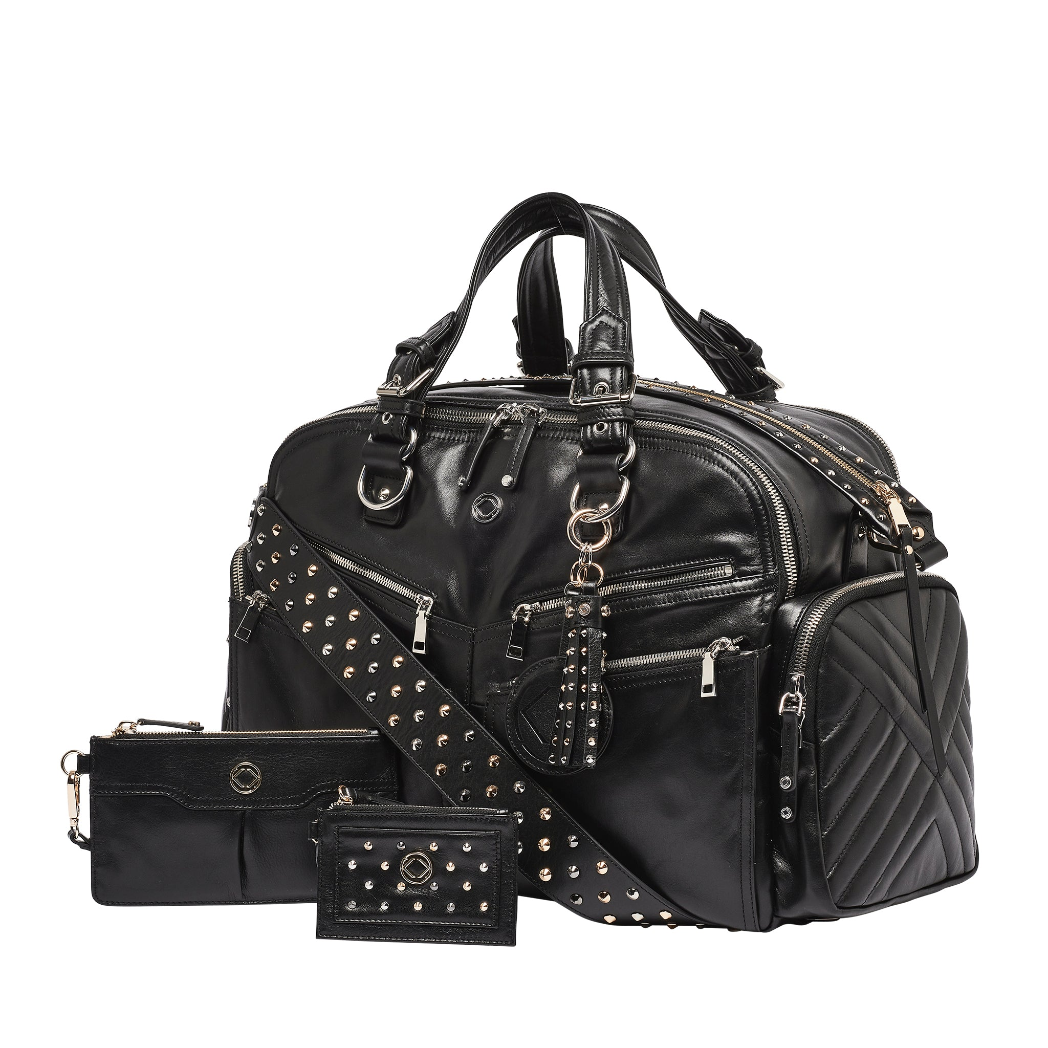 Westwood XL Black-Silver Leather Weekender Bag - Pre-order Now Open For March End Delivery