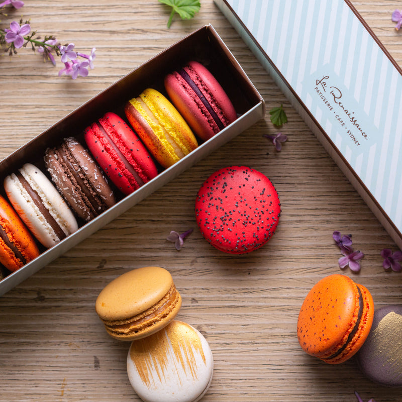 Box of 7 Assorted Macarons - $18.50