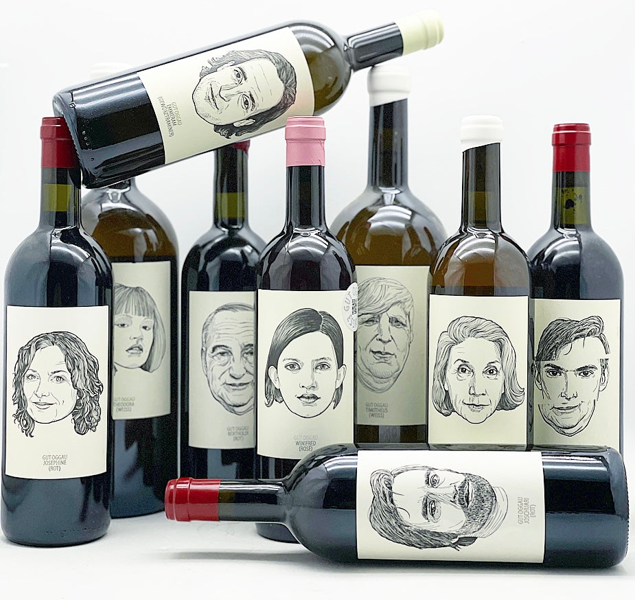 Gut Oggau wines are presented with beautiful labels
