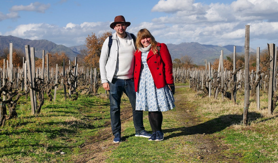 Chris & Anika in sicily discovering this wonderful wine region