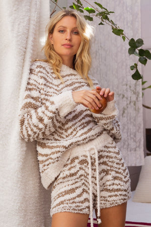 Tiger Cozy Loungewear Sweater
