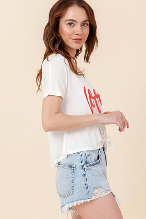Graphic Love Knotted Tee