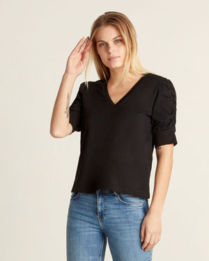 Dash Rouched Sleeve Top