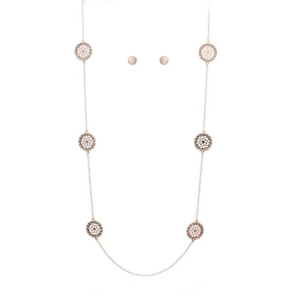 Diamond Discs Long Necklace