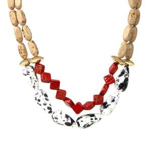 Double Strand Mixed Bead Necklace