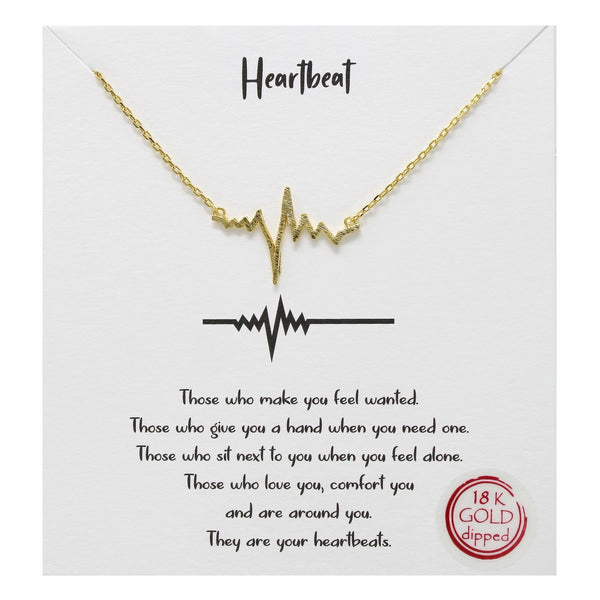 Heartbeat Carded Necklace