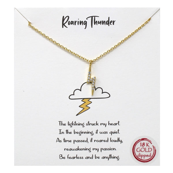 Roaring Thunder Carded Necklace