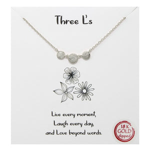 Three Ls Carded Necklace