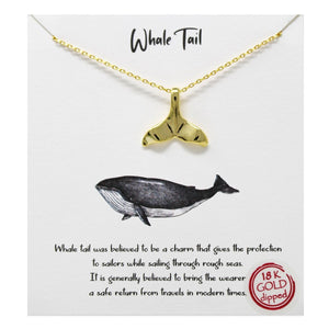 Whale Tale Carded Necklace
