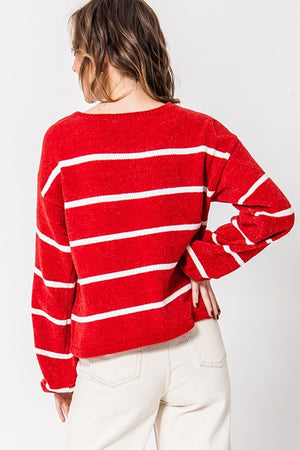 Chenille Striped Sweater