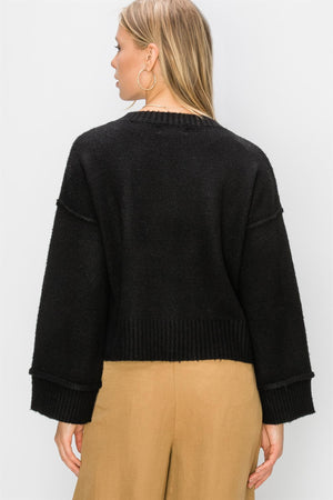 Crewneck Wide Sleeve Sweater