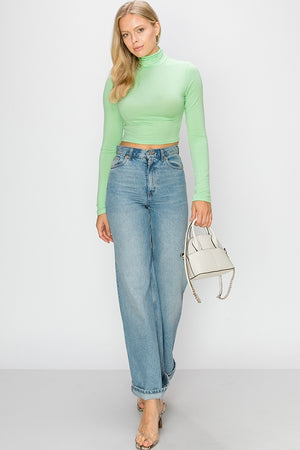 High Neck Cropped Top