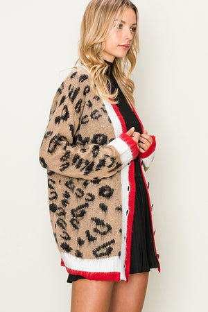 Collegiate Animal Cardi