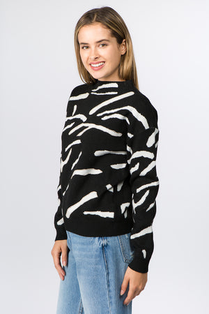 Diamond Trimmed Annimal Sweater