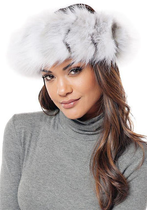 Crystal Fox Halo Faux Fur Headband