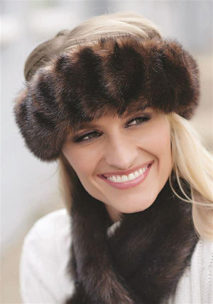 Sable Halo Faux Fur Earwarmer