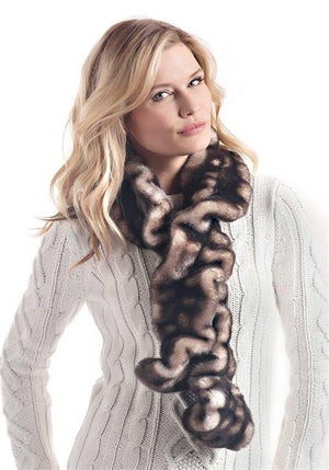 Shadow Mink Couture Ruffle Scarf