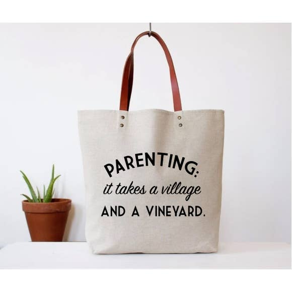"""Parenting Takes a Vineyard"" Tote Bag"