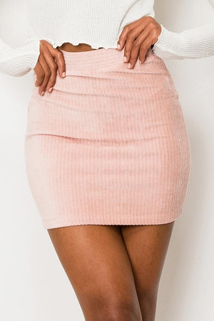 Stretch Cord Mini Skirt