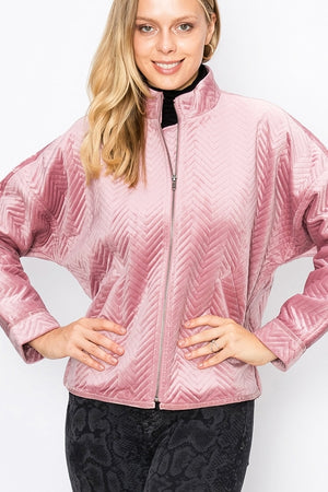 Chevron Bomber Jacket